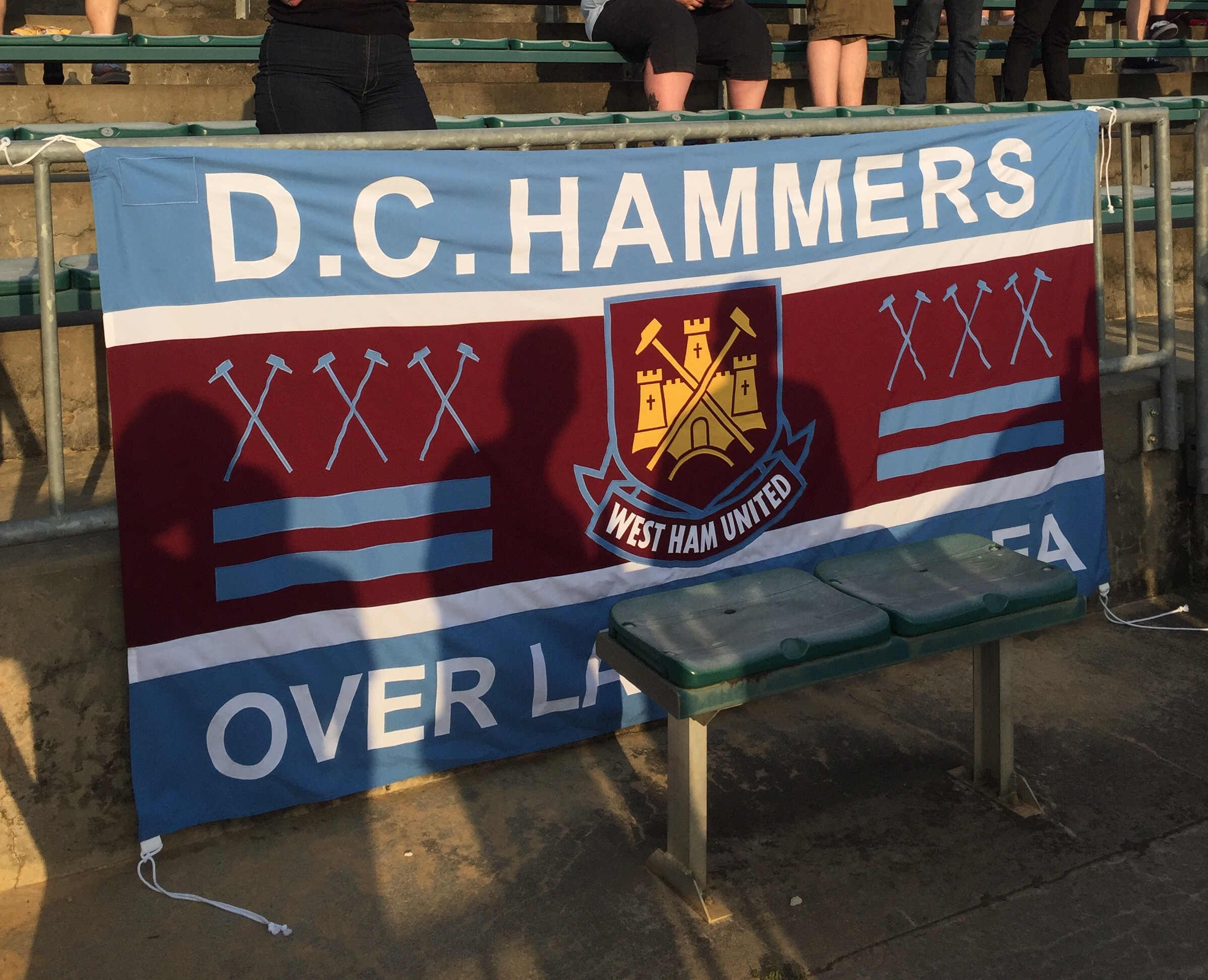D.C. Hammers Over Land and Sea Banner