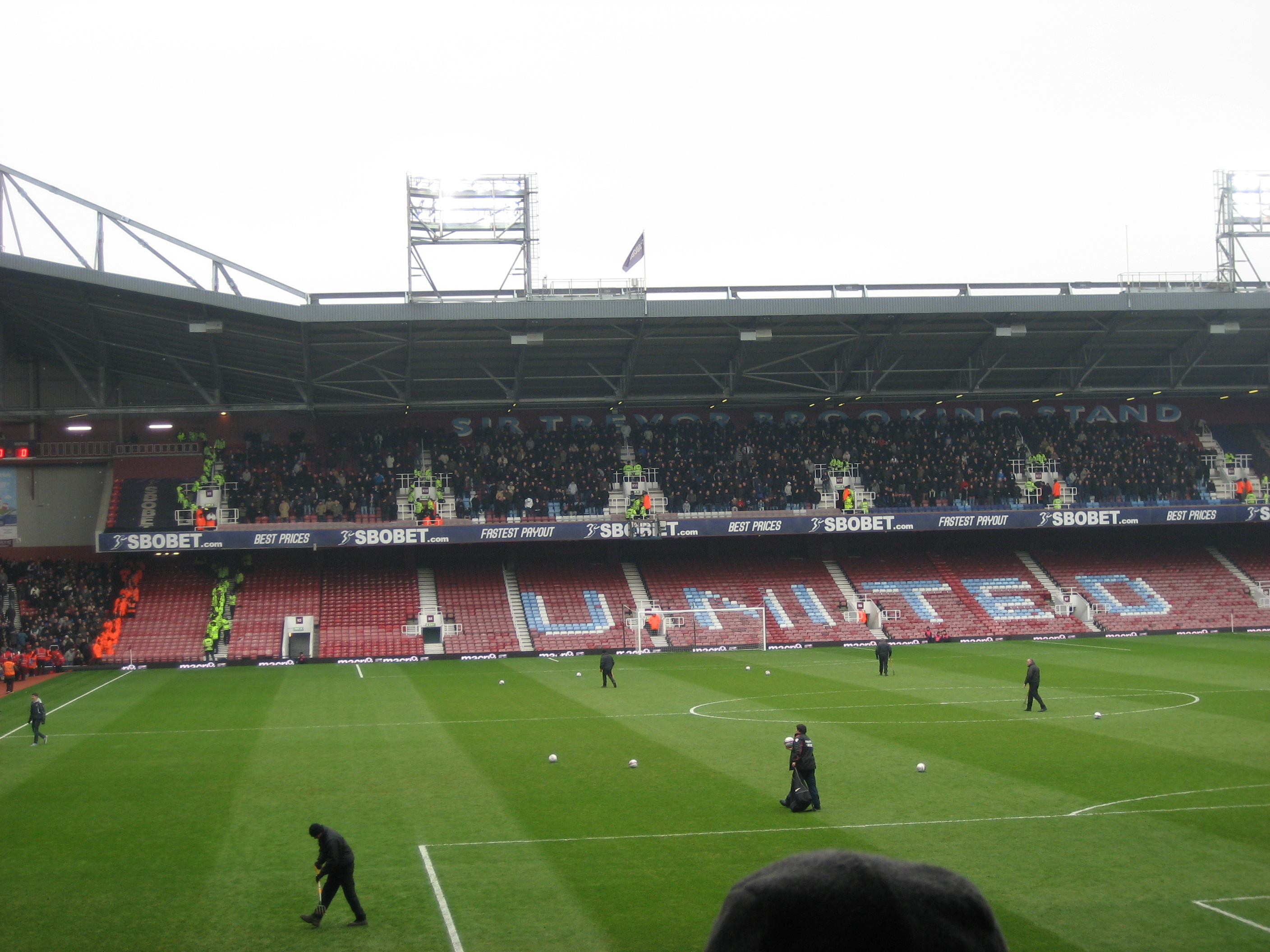 Millwall in the Sir Trevor Brooking Stand