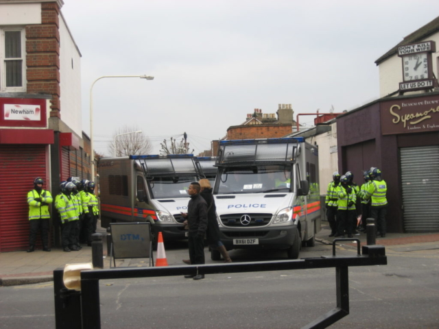 Police, West Ham v. Millwall, Feb. 2012