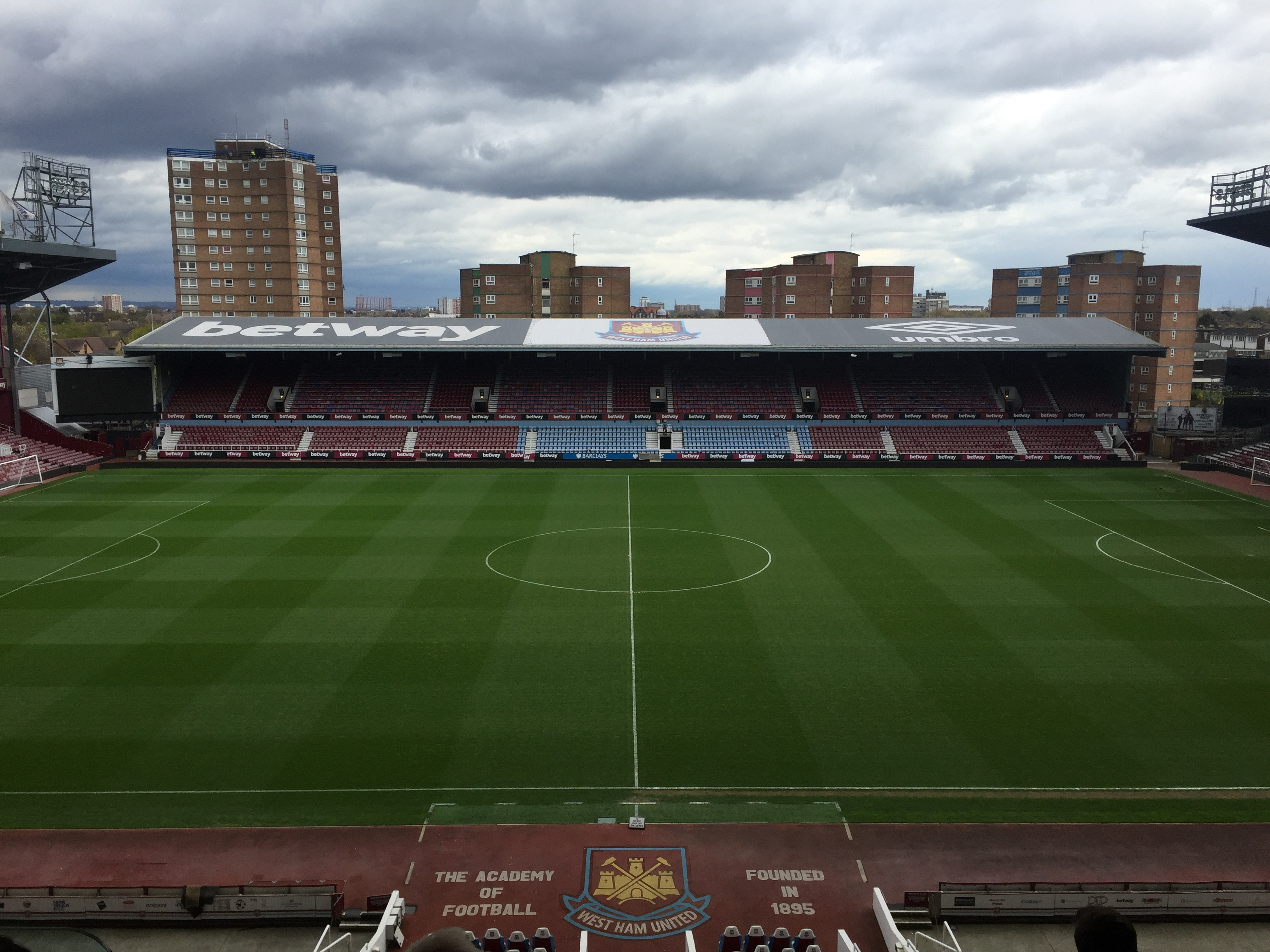 A view of the pitch