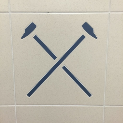 Tiles in the locker room