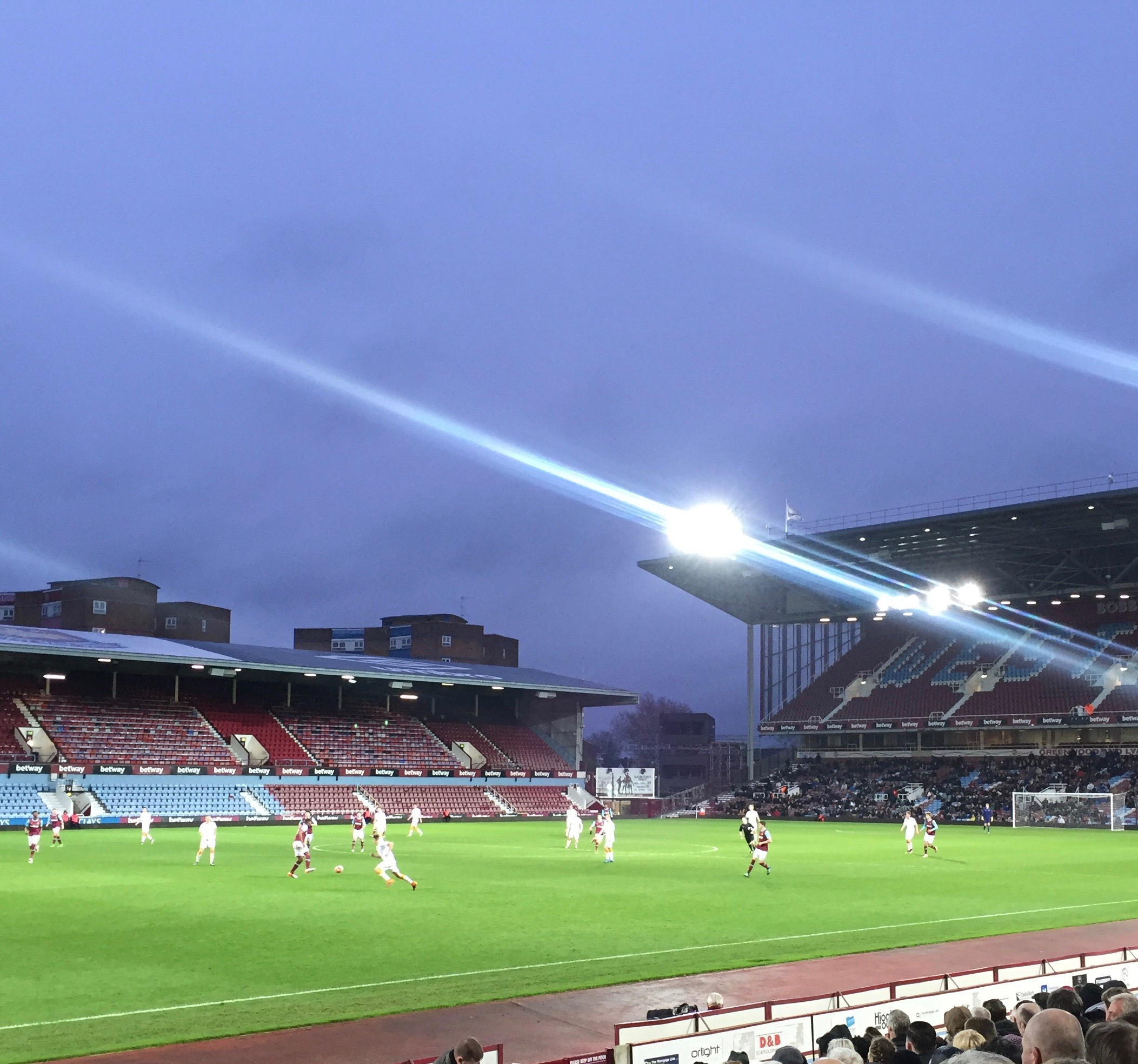 Upton Park under the lights